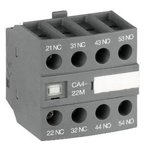 Блок контактный дополнительный ABB CA4-22M (2НО+2НЗ) для контакторов  AF09…AF16..-30-10