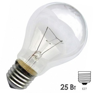Лампа накаливания 36В 25Вт Е27 прозрачная (МО 36-25)