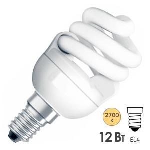 Лампа энергосберегающая Osram Micro Twist 12W/827 E14