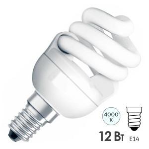 Лампа энергосберегающая Osram Micro Twist 12W/840 E14