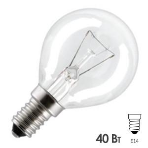 Лампа для духовых шкафов GE OVEN 40W CL 300°С шарик d45 E14 прозрачная