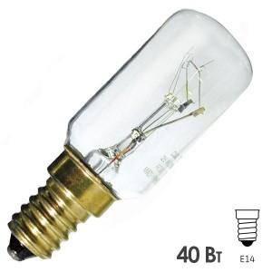 Лампа Sylvania Tubular Argon 40W d25х90 E14 для бытовой техники, кухонной вытяжки прозрачная