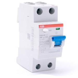 УЗО ABB F202 AC-100/0,3 2-х полюсное тип AC 100A 300mA 2 модуля