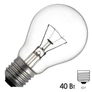 Лампа накаливания 24В 40Вт Е27 прозрачная (МО 24-40)