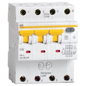 Дифференциальный автомат АВДТ 34 C16 30мА тип А ИЭК