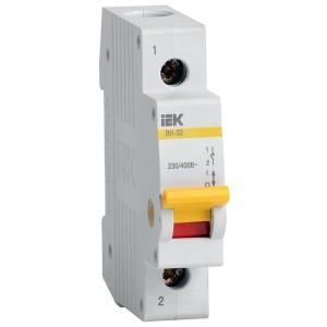 Рубильник модульный ВН-32 1Р 40А выключатель нагрузки ИЭК 1 модуль