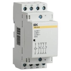 Контактор модульный КМ25-22 AC 25А 4 полюса 2НО+2НЗ катушка 220В ИЭК 2 модуля
