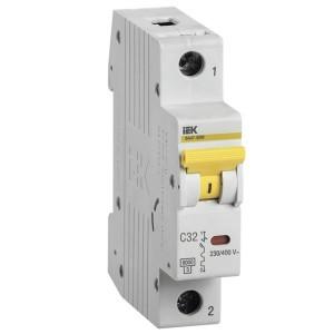 Автоматический выключатель ВА 47-60 1Р 32А 6 кА характеристика С ИЭК (автомат)