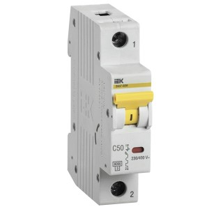 Автоматический выключатель ВА 47-60 1Р 50А 6 кА характеристика С ИЭК (автомат)