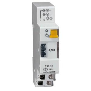 Таймер ТО47 освещения 1-7 мин 16А 230В на DIN-рейку 1НО ИЭК 1 модуль