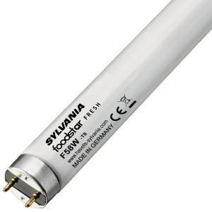 Люминесцентная лампа для овощей, фруктов, рыбы T8 Sylvania F58W FOODSTAR FRESH 6400K G13, 1500 mm