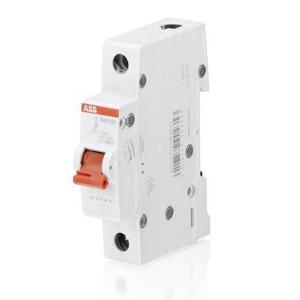 Рубильник модульный ABB 1-полюсный SHD201/25 рычаг красный