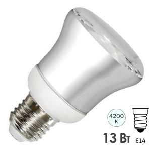 Лампа энергосберегающая ESL R63 13W 4200K E27 белая, d63x115