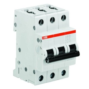 Автоматический выключатель 3-полюсный ABB S203 D10 (автомат)