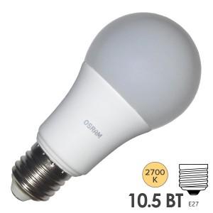 Лампа светодиодная Osram LED CLAS A FR 100 10,5W/827 240° 1060lm 220V E27 теплый свет