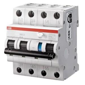 Дифференциальный автомат ABB 4-полюсный DS203NC C10 AC 30мА 6кА  4 модуля