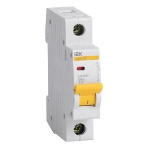 Автоматический выключатель ВА47-29 1Р 20А 4,5кА характеристика D ИЭК (автомат)