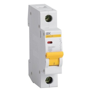 Автоматический выключатель ВА47-29 1Р 16А 4,5кА характеристика В ИЭК (автомат)