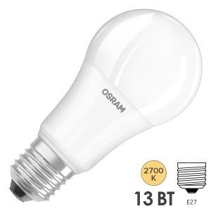 Лампа светодиодная Osram LED CLAS A FR 150 13W/827 240° 1521lm 220V E27 теплый свет