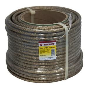 Трос стальной d10.0 мм в ПВХ изоляции, катушка 50 метров