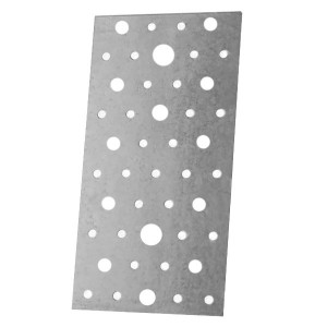 Пластина крепежная 400х40х2,0мм оцинкованная