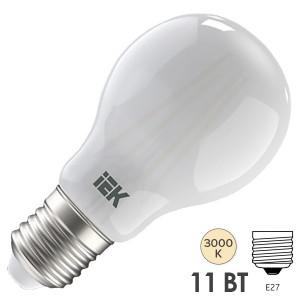 Лампа LED A60 шар матовый 11Вт 230В 3000К E27 серия 360° IEK 615579