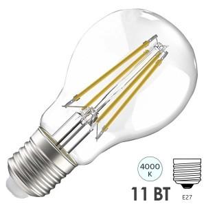 Лампа LED A60 шар прозрачный 11Вт 230В 4000К E27 серия 360° IEK 615517