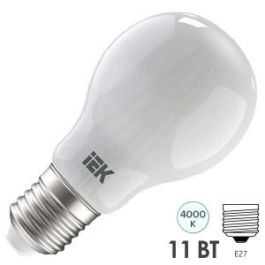Лампа LED A60 шар матовый 11Вт 230В 4000К E27 серия 360° IEK 615609