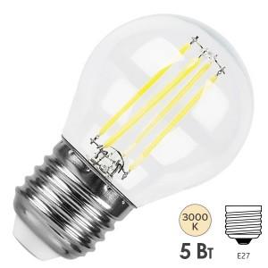 Лампа LED G45 шар прозрачный 5Вт 230В 3000К E27 серия 360° IEK 616088