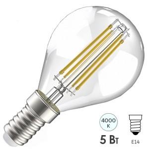Лампа LED G45 шар прозрачный 5Вт 230В 4000К E14 серия 360° IEK