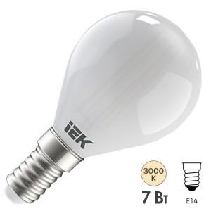 Лампа LED G45 шар матовый 7Вт 230В 3000К E14 серия 360° IEK 616415