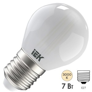 Лампа LED G45 шар матовый 7Вт 230В 3000К E27 серия 360° IEK 616446