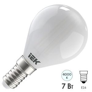 Лампа LED G45 шар матовый 7Вт 230В 4000К E14 серия 360° IEK
