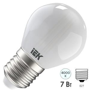 Лампа LED G45 шар матовый 7Вт 230В 4000К E27 серия 360° IEK