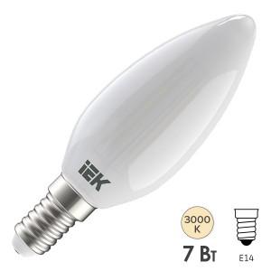 Лампа LED C35 свеча матовая 7Вт 230В 3000К E14 серия 360° IEK 616293