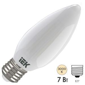 Лампа LED C35 свеча матовая 7Вт 230В 3000К E27 серия 360° IEK
