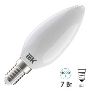 Лампа LED C35 свеча матовая 7Вт 230В 4000К E14 серия 360° IEK 616354