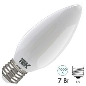 Лампа LED C35 свеча матовая 7Вт 230В 4000К E27 серия 360° IEK 616385