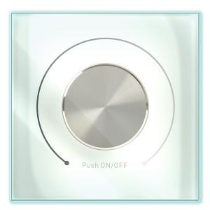 Диммер поворотный DALI (Broadcast) 125мА стекло белый IEK