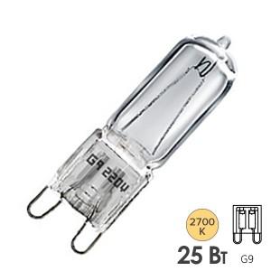 Лампа галогенная HCS CL 25W 220V G9 прозрачная