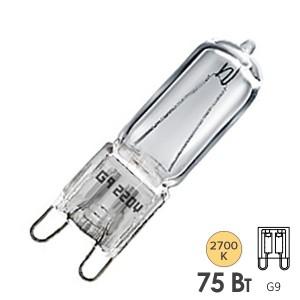 Лампа галогенная HCS CL 75W 220V G9 прозрачная