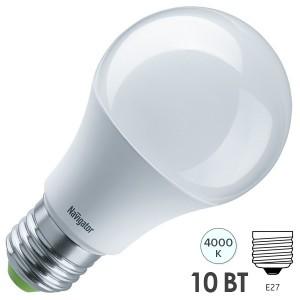 Лампа светодиодная низковольтная NLL-A60 10W 12V/24V 4000K 800Lm Е27 d60х108mm