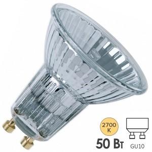 Лампа галогенная Osram 64824 FL HALOPAR 16 ALU 50W 35° 220V GU10 (4058075015029)