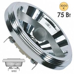 Лампа галогенная OSRAM 41840 FL HALOSPOT 111 75W 24° 12V G53