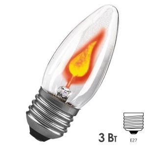 Лампа Paulmann мерцающая свеча прозрачная 3W Е27