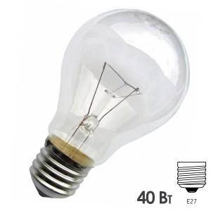 Лампа накаливания 36В 40Вт Е27 прозрачная (МО 36-40)