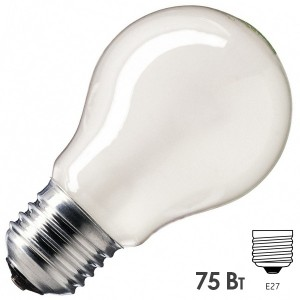 Лампа накаливания Osram CLASSIC A FR 75W E27 матовая