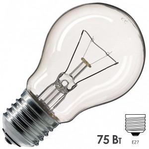 Лампа накаливания Osram CLASSIC A CL 75W E27 прозрачная