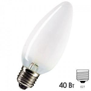 Лампа накаливания свеча Osram CLASSIC B FR 40W E27 матовая