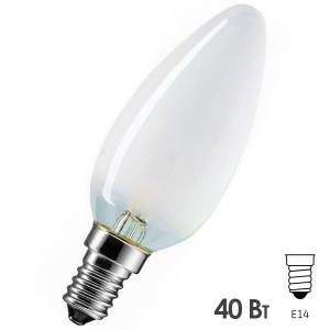 Лампа накаливания свеча Osram CLASSIC B FR 40W E14 матовая